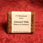 Homemade Z's Almond Milk & Honey bar