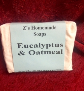 Homemade Zs Eucalyptus & Oatmeal soap