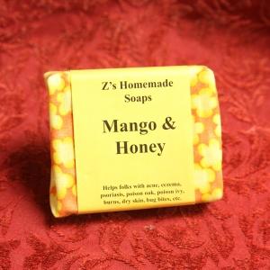 Homemade Zs Mango & Honey Soap