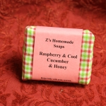 Homemade Zs Raspberry & Cucumber Soap