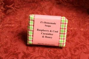 Homemade Zs Raspberry & Cucumber Soap